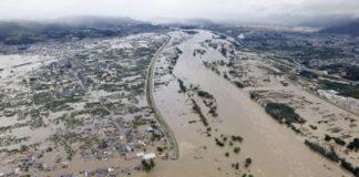 Der Taifun Hagibis sorgte für eine Überflutung der japanischen Stadt Nagano
