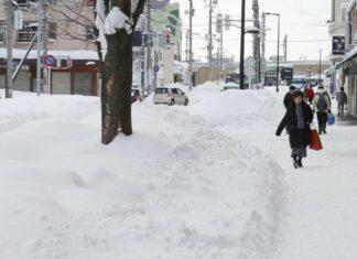 Schnee in Hokkaido
